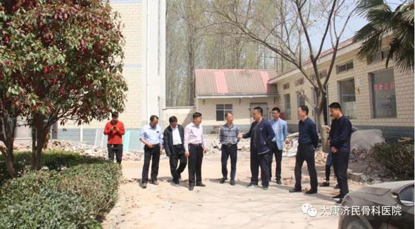 太康县副县长张国庆、水利局局长李应怀等领导来我院参观养老院建设近况